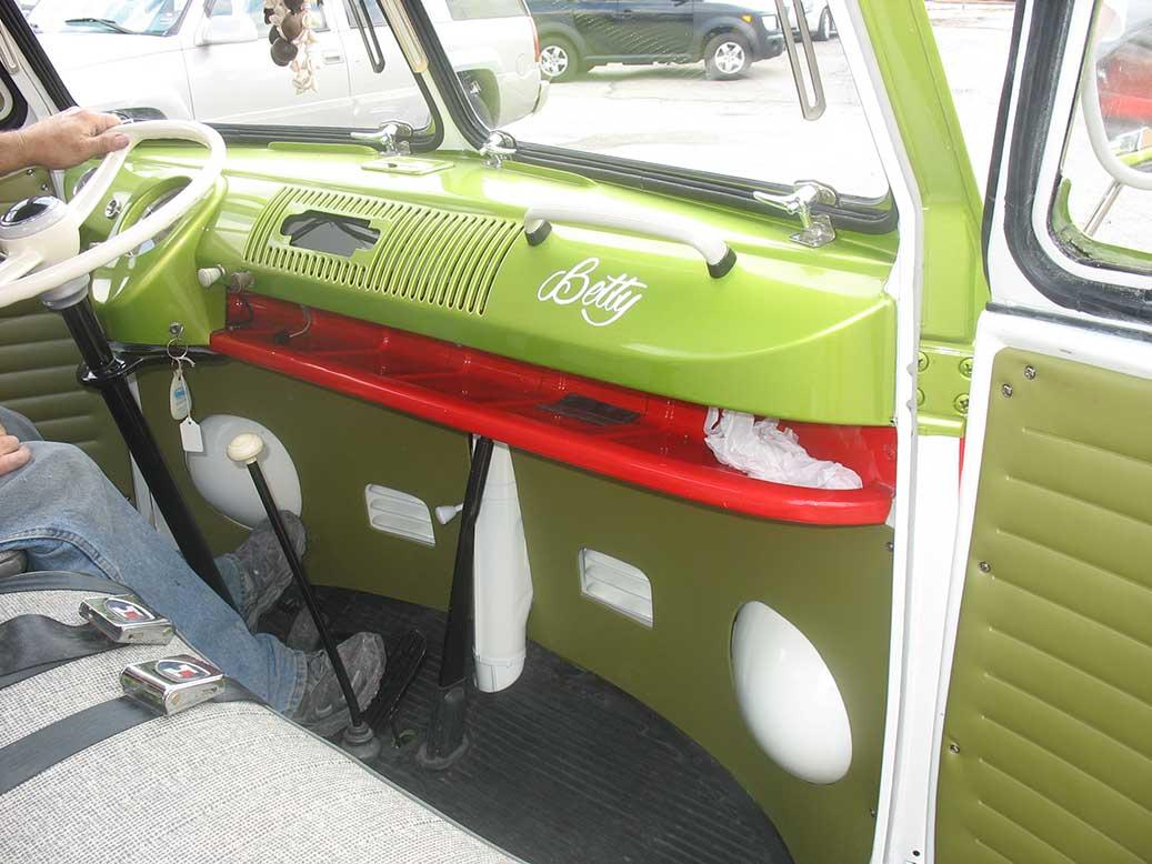 Inside of VW Transporter