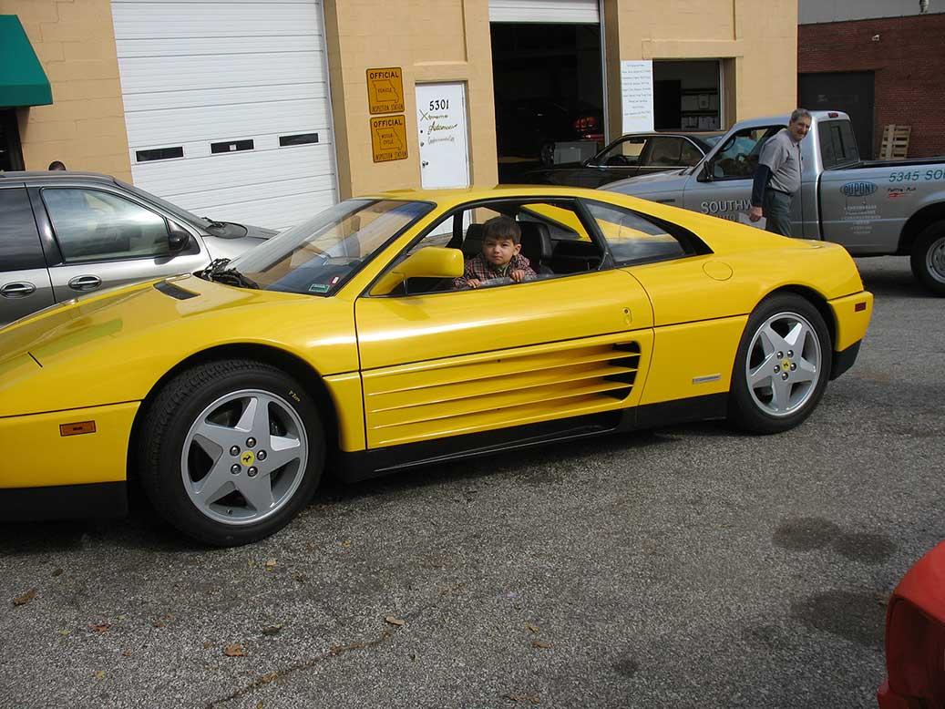 Side of 1985 Ferrari