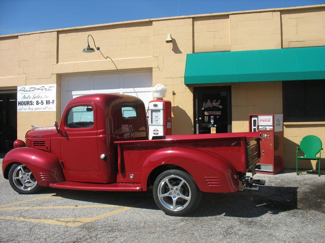 side of 1937 dodge truck