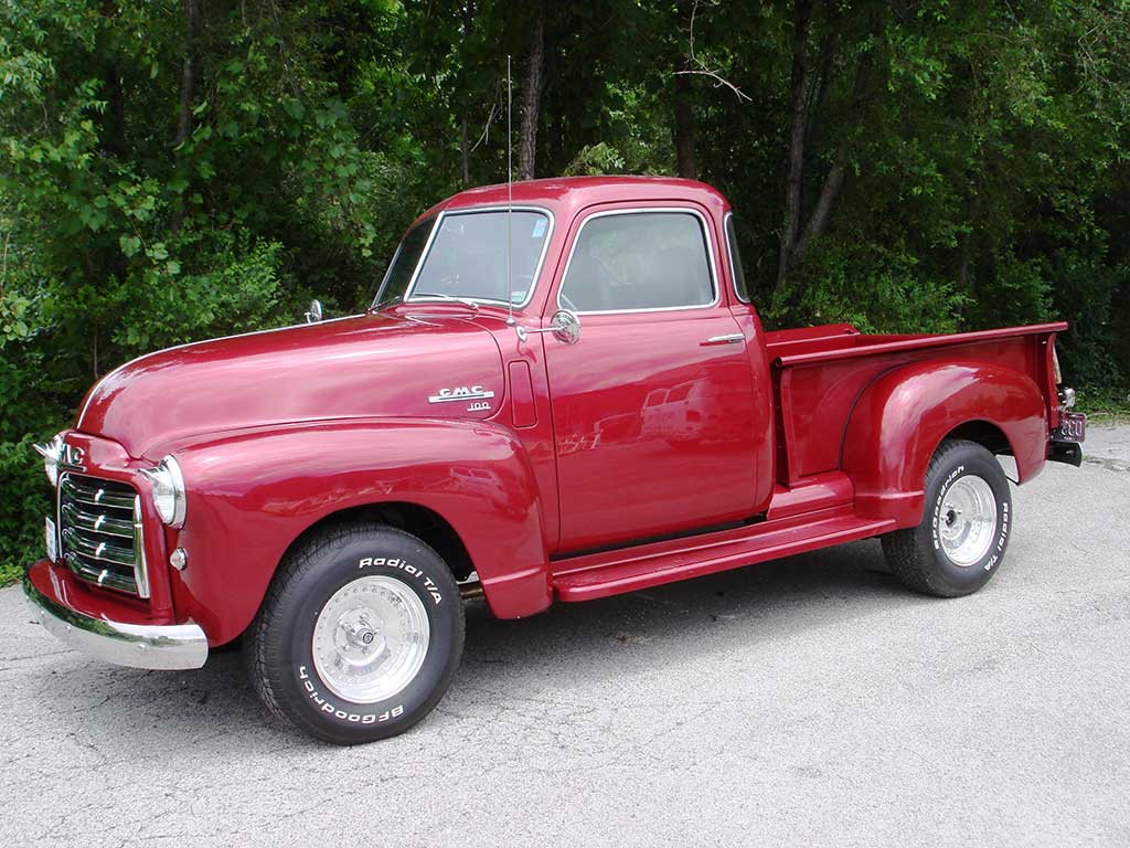Side of 1950 GMC 100