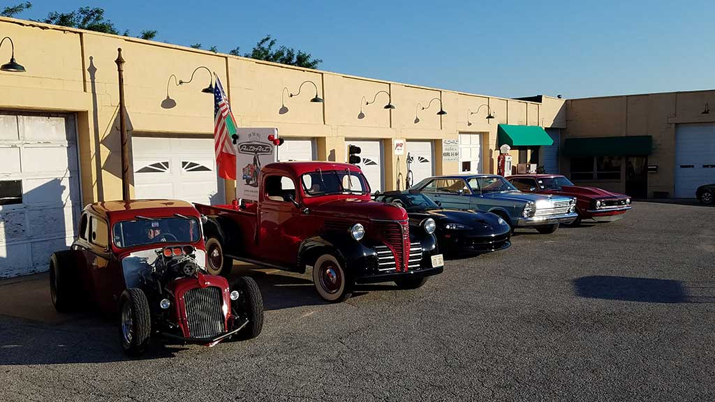 Car show preparation on large lot