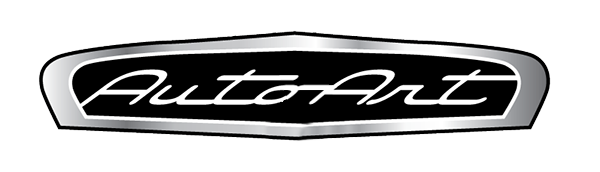 auto art logo grey black and white